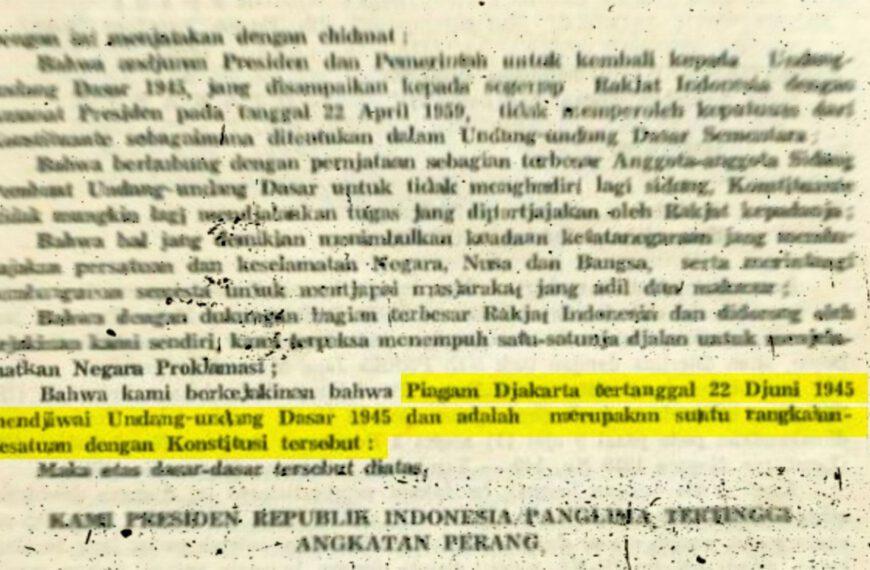 """Jangan Lupa, Piagam Jakarta adalah """"Jiwa"""" UUD 1945"""